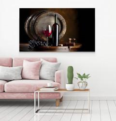 Tablouri Canvas, Vinul roșu pe fundalul de butoi