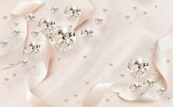 Fototapet 3D, Cristale pe un fundal drăguț