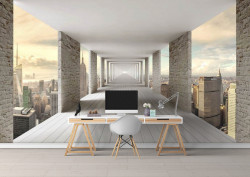Fototapet 3D, Un balcon în cer