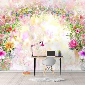 Fototapet Botanica, Arcul frumos de flori.