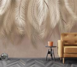 Fototapet, Frunze de palmier de o nuanță crem închis
