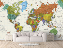 Fototapet, Harta detaliată a lumii