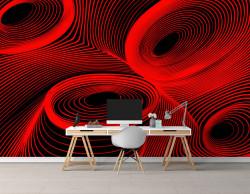 Fototapet Pentru Tavan, Abstracție roșie