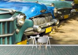 Fototapet, Priveliște la o parcare colorată