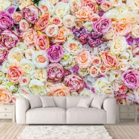 Fototapet, Trandafiri multicolori