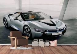 Fototapet Transport, Fotografie cu mașina din garaj.