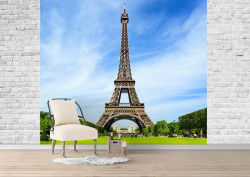 Fototapet, Turnul Eiffel înconjurat de frumusețile naturii