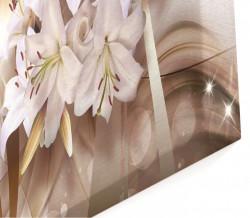 Multicanvas, Floarea pe un fondal bej