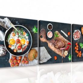 Multicanvas, Mâncarea pe un fond negru
