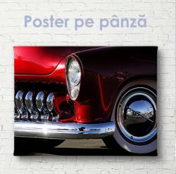 Poster, Element roșu retro pentru mașină