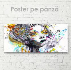 Poster, Fată abstractă