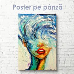 Poster, Fata cu ganduri adânci