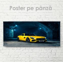 Poster, Mercedes galben