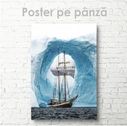 Poster, Navă pe fundalul ghețarilor