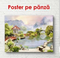 Poster, Peisajul chinezesc lângă un lac