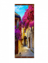 Roll-up, Copaci roz scăldați de soare