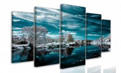Tablou modular, Lacul, iarna