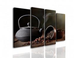 Tablou modular, Un set de ceai de culoarea neagră