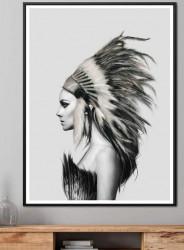 Tablou, Portretul unei fete alb-negru