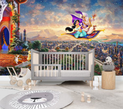 Tapet foto pentru copii, Aladdin și Jasmine