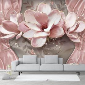 Fototapet 3D, Floare de crin roz