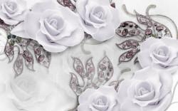 Fototapet 3D, Trandafiri violet