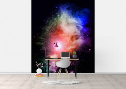 Fototapet Astronomie, Dansul culorilor în cosmos