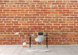 Fototapet Factura, O perete de cărămidă de culoare maro