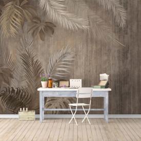 Fototapet, Frunze brune tropicale