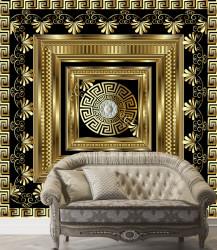Fototapet, Glamour negru cu auriu