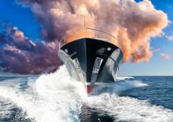 Fototapet, O corabie mare