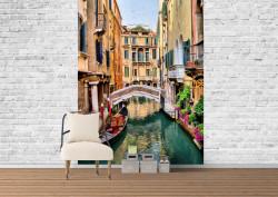 Fototapet, O gondolă din Italia