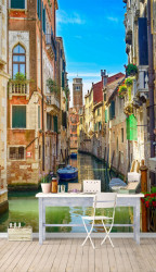 Fototapet Orase, Orașul frumos pe apă