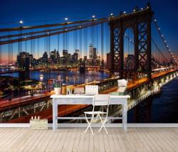 Fototapet, Podul în orașul