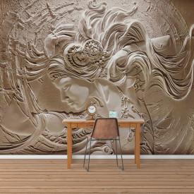 Fototapete 3D, Imaginea fetei de pe perete