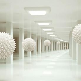 Fototapete 3D, Un culoar și bile albe
