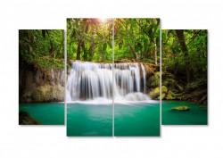 Multicanvas, Cascada și pădurea verde