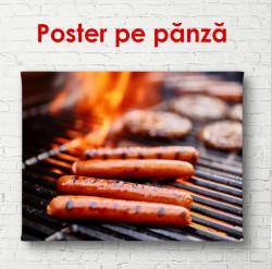 Poster, Carne pe foc