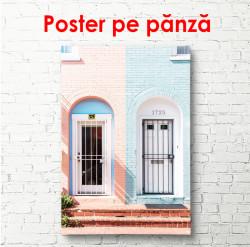 Poster, Casă pentru roz-albastru