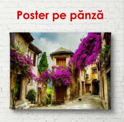 Poster, Curtea cu copaci purpurii