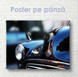 Poster, Element negru clasic de mașină de epocă