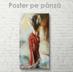 Poster, Fată din spate