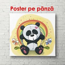 Poster, Panda și curcubeu