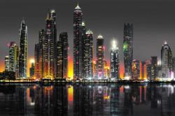 Poster, Priveliștea de noapte a Dubaiului