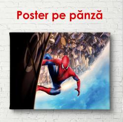 Poster, Spiderman pe o clădire înaltă