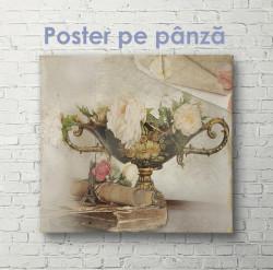 Poster, Vaza de flori în stil Provence