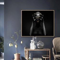 Tablou, Artă moderna negru cu auriu