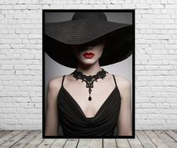 Tablou, Doamnă cu pălărie