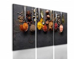 Tablou modular, Condimente aromate pe o masă de grafit