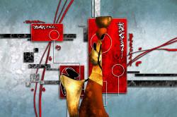 Tablou modular, Ilustrație africană